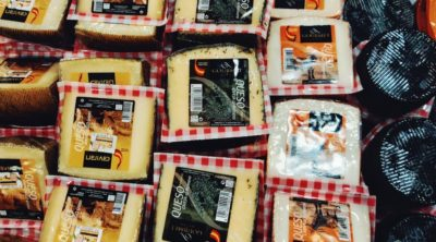 selection of cheeses for sale
