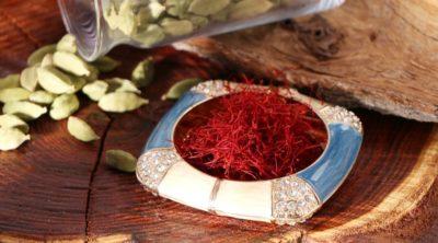 saffron spice in a bowl